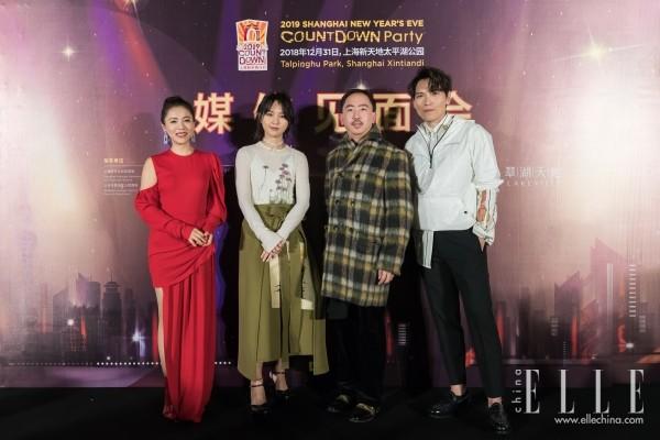 2019上海新年倒计时于新天地举行 周笔畅杨宗纬携手献唱