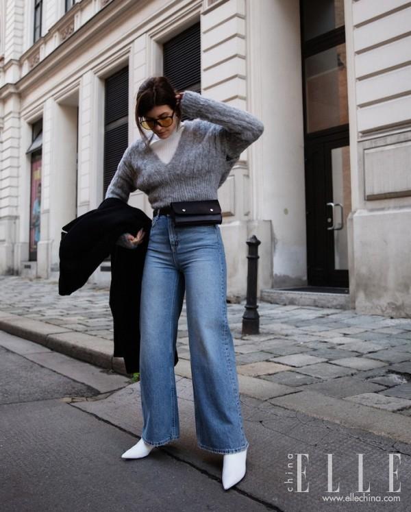冬天,如何穿牛仔裤更御寒?
